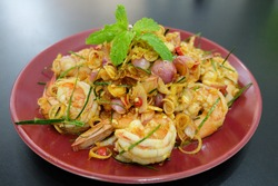 Spicy salad with shrimp. The most popular recipe for today would like to introduce the Spicy salad with shrimp menu, which is Spicy salad with shrimp. The secret to deliciousness lies in choosing qual