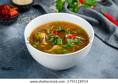 spicy sour soup Chinese cuisine Photo stock ©