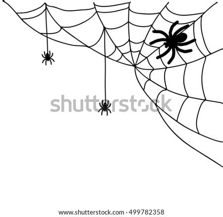 Spiderweb illustration  #499782358