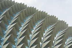 spike texture of roof of esplanade  theatre in singapore