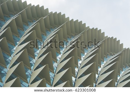 spike texture of roof of esplanade  theatre in singapore  #623301008