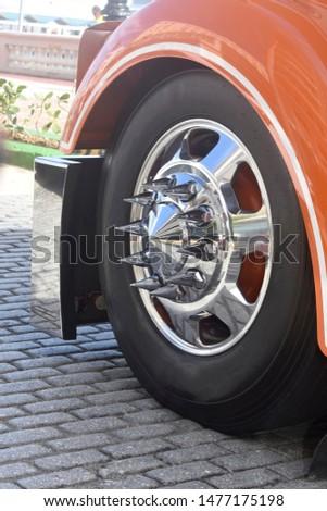 spiky chrome mag truck rims  #1477175198