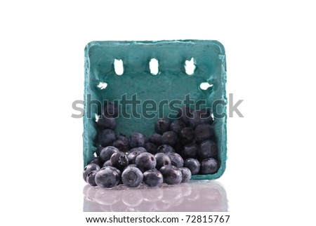 Spilled Carton of Blue Berry Fruits