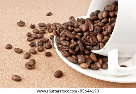 Spilled cup of coffee