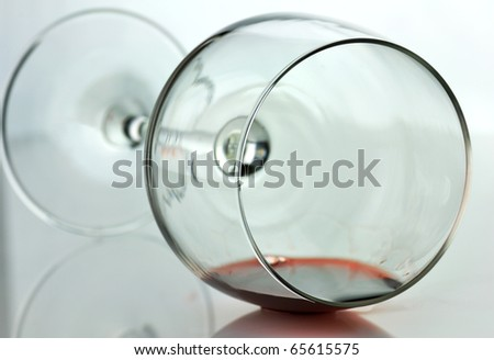 spilled wine glass