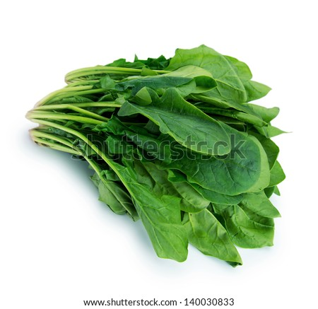 Spinach isolated on white.