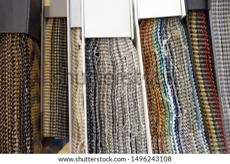 Spines of Hanging Fabric Swatch Books