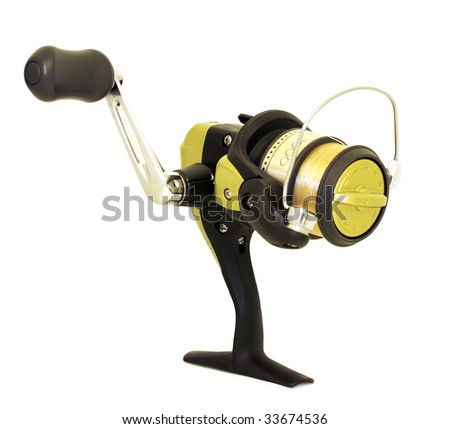Spinning reel - stock photo