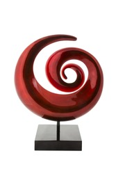 spiral abstract sculpture - spiral shape modern vase isolated on white background