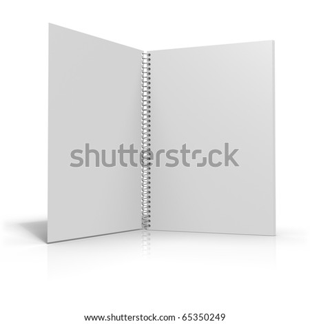 Spiral binder with white background