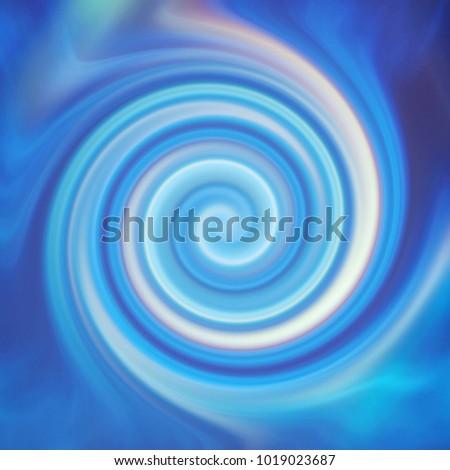 Spiral, caramel, rainbow, Blue colored smoke in the dark, dark background
