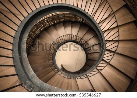Spiral circle Staircase decoration interior