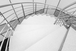 Spiral circle Staircase decoration interior - Black and white filter