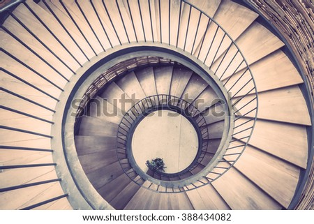 spiral circle staircase...