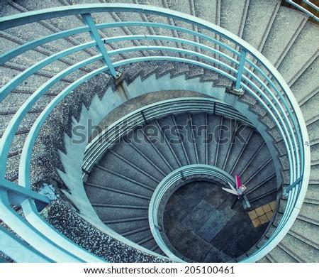 Spiral concrete ladder. #205100461
