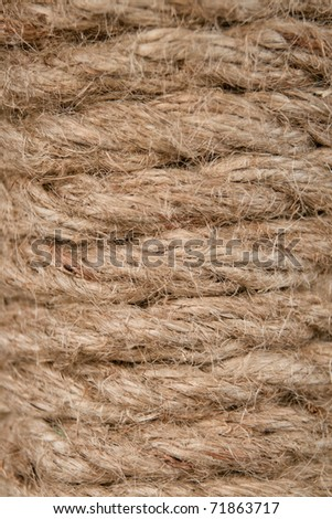 spiral fibrous strong cord from hemp