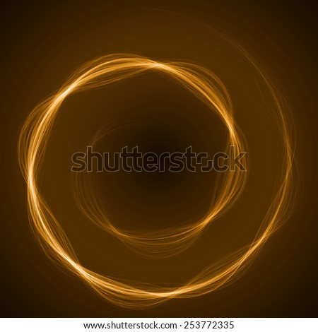 spiral formed energy waves (yellow colored,wide waves version)