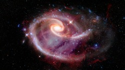 Spiral galaxy. Elements of this image furnished by NASA.