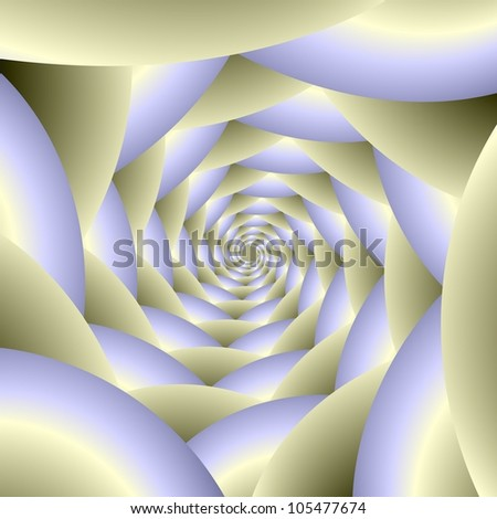 Spiral in Blue and White/Digital abstract fractal image with a spiral design in white and pale blue.
