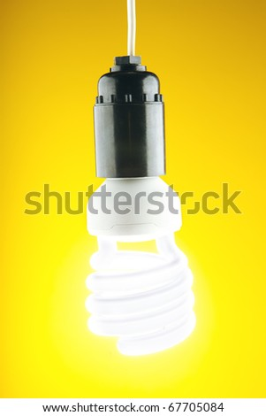 spiral lamp on a yellow background