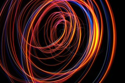 Spiral lines on isolated background.