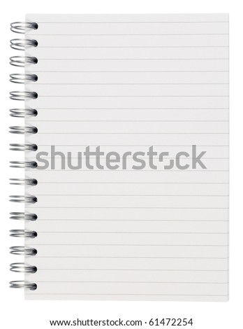 Spiral notebook,isolated on white with clipping path