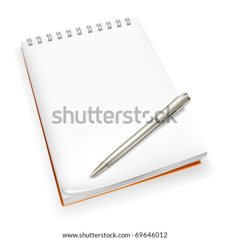 Spiral Notebook with pen, Bitmap copy