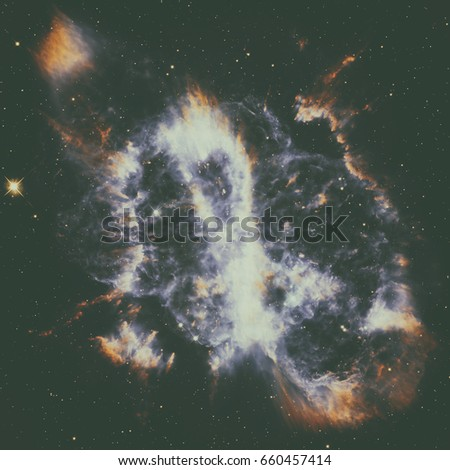 Spiral Planetary Nebula or NGC 5189. Located in the constellation Musca. 1,780 light years away from Earth. Elements of this image furnished by NASA.