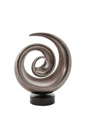 Spiral shape modern vase isolated on white background