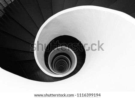 spiral shaped stairs #1116399194