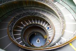 Spiral staircase at European landmark