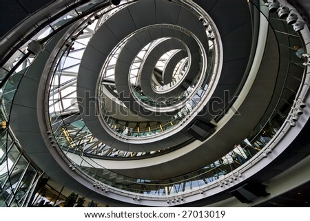 Spiral staircase, city hall, London UK