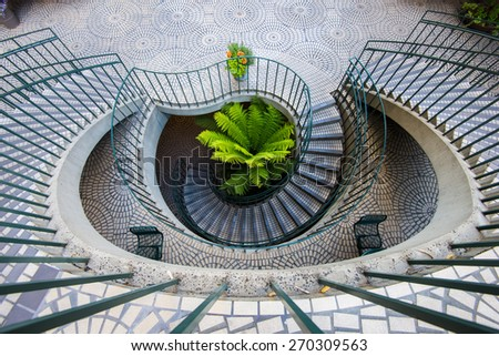 Spiral Staircase, Embaccadero center San Francisco ストックフォト ©