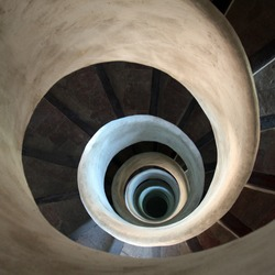 spiral staircase in an old church in valencia