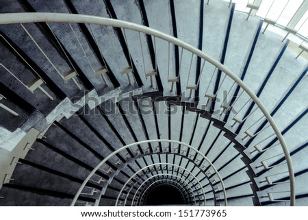 spiral staircase in modern building #151773965