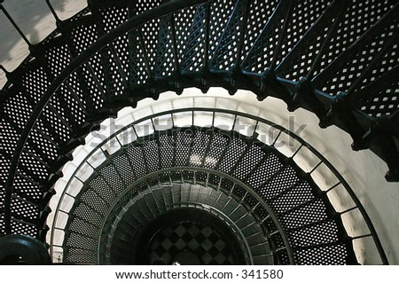 spiral staircase in St. Augustine Lighthouse in Florida