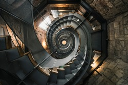 Spiral staircase in The Lighthouse, Glasgow