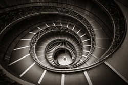 Spiral staircase in Vatican Museum.