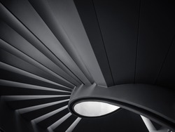 Spiral staircase Shade and shadow Modern Building Architecture detail