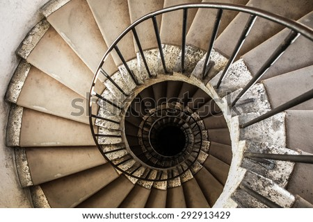 spiral staircases architectural element of a historic building #292913429