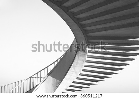 spiral stairs abstract