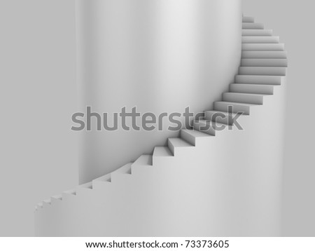 spiral stairway as background 3d illustration