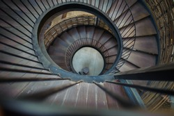 Spiral Wood Stairs