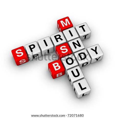 spirit, soul, mind, body crossword