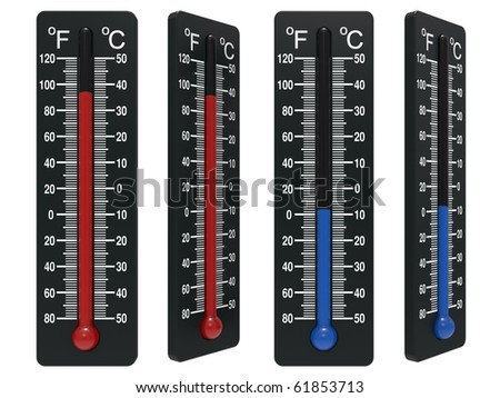 Spirit the thermometer isolated on a white background