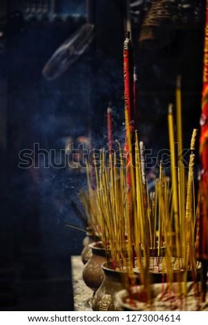 spiritual atmosphere in a chinese pagoda