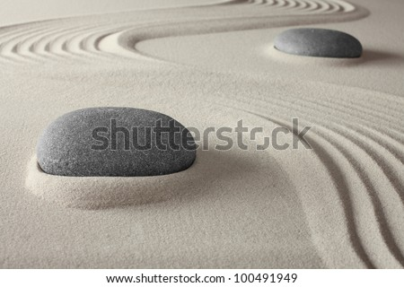 spiritual spa background zen garden with sand and rock concept for harmony relaxation and meditation tao buddhism conceptual for wellness treatment