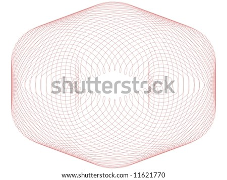 Spirograph Image Hexagon Red