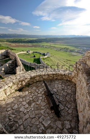Spissky hrad - The ruins of the largest castle in the central Europe