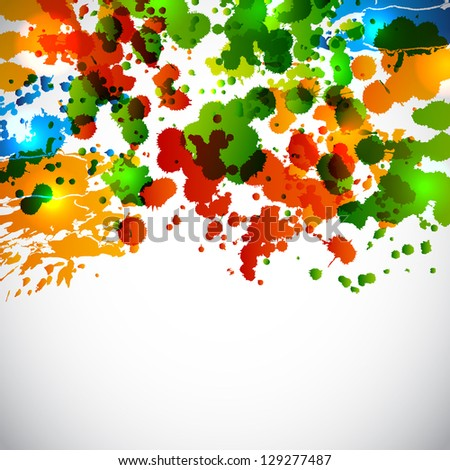 Splash background. Raster version of the loaded vector